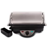Grill electric Daewoo DG70, 1800 W, 3 nivele temperatura, placi neaderente, ajustare inaltime gatire, termostat reglabil