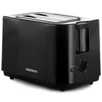 Prajitor de paine Daewoo DBT40B, 750 W, 2 felii, control electronic rumenire, 6 trepte putere, negru
