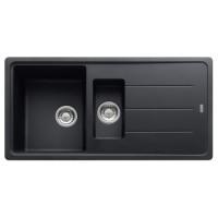 Chiuveta bucatarie compozit fragranite Franke BFG 651-78 grafite neagra cuva mare + mica reversibila 78 x 50 cm