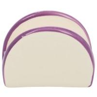 Suport bucatarie, pentru servetele, HC4112-P114, ceramica, 9.8 x 4.4 x 7.3 cm, alb + mov