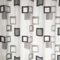 Perdea dus SWSC-161, model geometric, alb / gri / negru, 180 x 200 cm