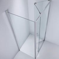 Usa bifold pentru cabina dus, sticla, West WST04, 80 x 190 cm