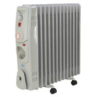 Radiator electric PNI Turbo Heat, 3 trepte, 2900 W, 600 x 160 x 590 mm, 13 elementi, termostat reglabil, ventilatie, timer