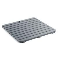 Platforma dus / baie, gri metalizat, 55 x 55 cm