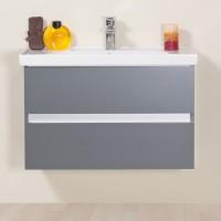 Masca baie pentru lavoar, Arthema Frame 60 160-AN1, cu sertare, antracit mat, 56 x 43 x 48 cm