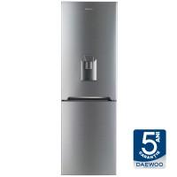 Combina frigorifica Daewoo RN-308RDQM, 305 l, No Frost, clasa A+, inaltime 187 cm, dispenser apa, argintiu