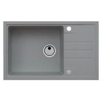 Chiuveta bucatarie compozit granit Alveus Intermezzo 130 G81 gri cuva stanga / dreapta 78 x 48 cm