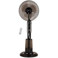 Ventilator cu pulverizare apa Zass ZMF 02, 75 W, 3 viteze, diametru 40.6 cm, rezervor apa 3.2 l, functie de umidificare, temporizare, telecomanda, negru