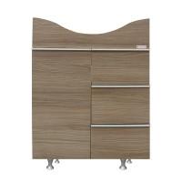 Masca baie pentru lavoar, Arthema New Ella 102NEW / PC-KS, cu sertare si usa, ulm, 63 x 48 x 82 cm