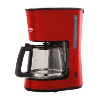 Cafetiera Beko CFM4350R, 900 W, 1.25 l, capacitate 10 cesti, functie oprire automata, functie antipicurare, rosu