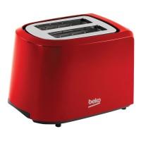 Prajitor de paine Beko TAM4201R, 850 W, 2 felii, functie decongelare, functie reincalzire, 7 trepte putere, rosu