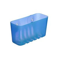 Etajera pentru baie, plastic, S42013, bleu, montaj cu ventuze, 20 x 8.5 x 11 cm