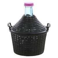 Damigeana sticla cu invelis protector si capac din plastic, 5 litri