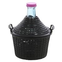 Damigeana sticla cu invelis protector si capac din plastic, 10 litri