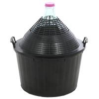 Damigeana sticla cu invelis protector si capac din plastic, 34 litri