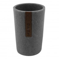 Pahar baie pentru igiena personala, Grey BPO-2013-3C, polirasina, gri, 7.4 x 10.2 cm