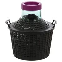 Damigeana sticla cu invelis protector si capac cu filet din plastic, 25 litri