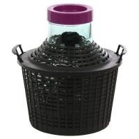 Damigeana sticla cu invelis protector si capac cu filet din plastic, 34 litri
