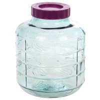 Borcan 20 litri, gura larga, capac cu filet, sticla, transparent