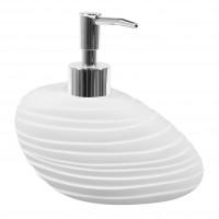 Dozator sapun lichid Elegant BPO-2235A, polirasina, alb