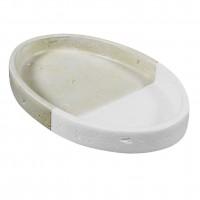 Sapuniera Flinstone BPO-1578D, polirasina, alb + crem