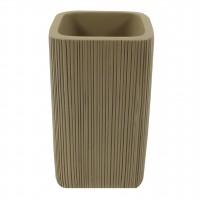 Pahar baie pentru igiena personala, Tree Bark BPO-0916C, polirasina, maro, 6.8 x 6.8 x 11.5 cm