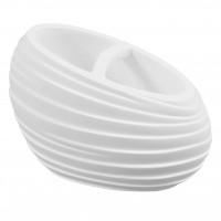 Suport periute dinti, Elegant BPO-2235B, polirasina, alb, 6.5 x 12.5 x 8.9 cm