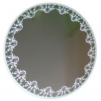 Oglinda decorativa Class Mirrors M12, rotunda, banda LED, D 70