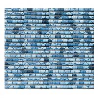 Covoras baie Friedola Mozaic 79817.9, antiderapant, model mozaic, albastru, 65 cm