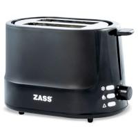 Prajitor de paine Zass ZST 10 BL, 850 W, 2 felii, functie decongelare, functie reincalzire, 7 trepte putere, negru