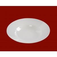Bol pentru paste, portelan, alb, 26.4 cm