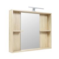 Oglinda baie cu iluminare si polite, Rus Savitar Simply, bardolino, 66 x 80 cm