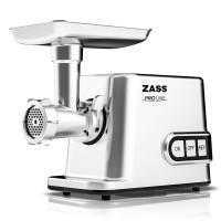 Masina de tocat carnea, electrica, Zass ZMG 10, functie Reverse, 1.16 kg/min, 3000 W, gri + accesoriu suc rosii