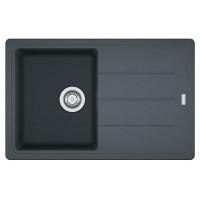 Chiuveta bucatarie compozit fragranite Franke BFG 611-78 grafite neagra cuva stanga / dreapta 78 x 50 cm