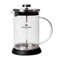 Presa cafea si ceai Blaumann BL-3274, otel inoxidabil + sticla, diverse culori, 350 ml