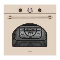 Cuptor electric incorporabil Samus SC620VTV, clasa A, 58 litri, 6 functii, grill, ventilator, timer, design vintage, 2200 W, bej