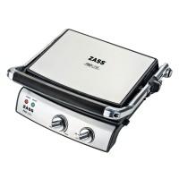 Gratar electric Zass ZPG 02, 2000 W, placi tip grill antiaderente, placi detasabile 29 x 23 cm, termostat reglabil, maner termorezistent, gri