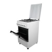Aragaz electric / gaz Nuova Cucina 50/60, 3 arzatoare gaz + 1 arzator electric, cuptor pe gaz, aprindere electrica, grill, timer, latime 50 cm, alb