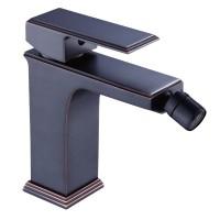 Baterie baie pentru bideu, Kadda Integrity MY1701-9 DBR, ventil inclus, monocomanda, finisaj negru + rosu