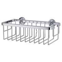 Etajera pentru baie din aluminiu cromat tesa Aluxx 40201, autoadeziva, 1 raft, 25 x 12.5 x 9.2 cm