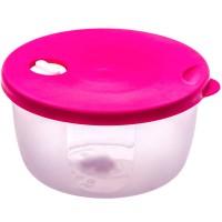 Cutie depozitare pentru alimente, Agora Plast, polipropilena, rotunda, transparenta, 0.6 L
