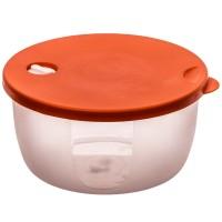 Cutie depozitare pentru alimente, Agora Plast, polipropilena, rotunda, transparenta, 1.2 L