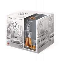 Pahar + sticla whisky, Cassiopea, din sticla, 330 + 850 ml, set 7 bucati