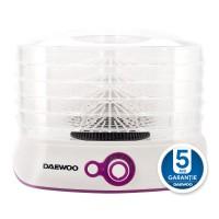 Deshidrator de alimente Daewoo DD450W, 500 W, 5 tavi, 35 - 70 grade C, ventilator integrat, alb + violet
