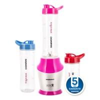 Blender Daewoo DS3503, 350 W, 1 treapta de viteza, 0.6 l, 3 recipiente gradate din tritan, alb + roz, 2 recipiente 0.6 l + 1 recipient 0.4 l