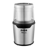 Rasnita de cafea Zass ZCG 10, 200 W, 85 g, functie Pulse, 2 recipiente din inox, sistem 2 in 1 pentru cafea si condimente, argintiu