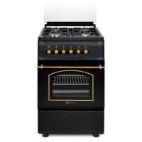 Aragaz pe gaz Studio Casa Verona Antracit, 4 arzatoare, aprindere electrica, dispozitiv siguranta plita si cuptor, grill, latime 50 cm, negru
