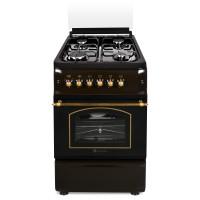 Aragaz pe gaz Studio Casa Verona Brown, 4 arzatoare, aprindere electrica, dispozitiv siguranta plita si cuptor, grill, latime 50 cm, maro
