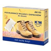 Absorbant umezeala si miros pantofi, K&M AK103 Dryboots, set 2 bucati