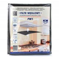 Filtru carbon pentru hota, K&M FW 1, 47 x 57 cm, universal